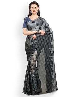 Buy Hug Collection of sarees Like Designer Saree,Wedding Sarees,Cotton Sarees,Party wear Saree and More For All Occasion And Festival, Shop Now Get Discount Up to Off Cash On Delivery Available ! Grey Saree, Ethnic Wedding, Bollywood Saree, Indian Ethnic, Wedding Designs, Marriage, Vogue, Sari, Elegant