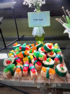 DIY Candy Sushi For a Party