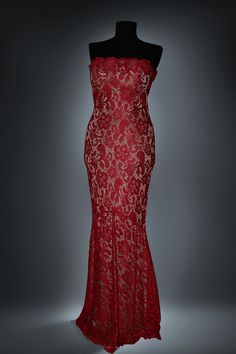 red lace dress by Barrochia