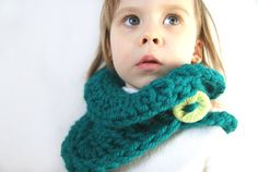 Green Baby Scarf Toddler Scarf Knit infinity scarf by BambinoStore