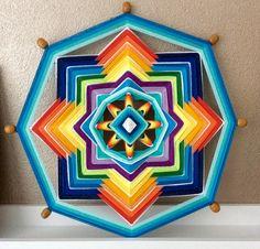 Weaving mandala made by Els van der Lugt 11-2014