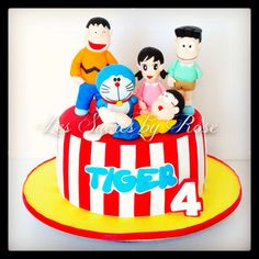 Doraemon Cake...all sugar figurines www.facebook.com/lessucresbyrose