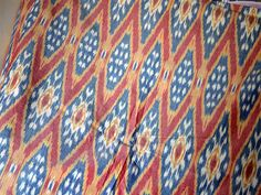 Ikat Cotton Fabric Handloom  Homespun by Indianlacesandfabric