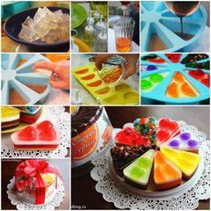 Ingenioso pastel de gelatinas