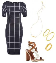Shop this look inspired by Jessica Alba's recent enviable windowpane ensemble.