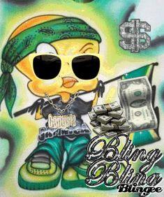 Gangster Tweety Bird | gangsta tweety Picture #97042845 | Blingee.com