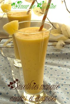 Healthy smoothie recipes 564638872014635555 - smoothies mangue ananas et Source by eememi Cranberry Smoothie, Mango Smoothie Recipes, Protein Shake Recipes, Fruit Smoothies, Healthy Smoothies, Healthy Drinks, Healthy Recipes, Smoothie Detox, Easy Recipes