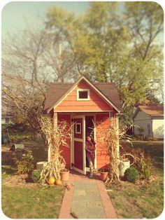 orange garden shed
