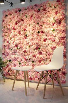 Flower Wall Backdrop, Wall Backdrops, Summer Flowers, Yellow Flowers, Decor Wedding, Wedding Decorations, Kylie Makeup, Hangout Room, Beauty Salon Decor