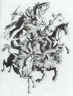 four horsemen of the apocalypse tattoo the four horsemen i did this as a arm sleeve tattoo for. Black Bedroom Furniture Sets. Home Design Ideas