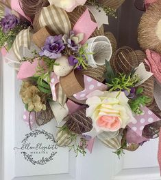 Easter Wreath, Rabbit Wreath, Bunny Wreath, Easter Bunny Wreath, Spring Mesh Wreath, Easter Wreaths for Front Door, Farmhouse Wreath A cute bunny wreath with lots of soft colors can adorn your door for Easter and all the way thru spring. This rabbit wreath is made on a base of