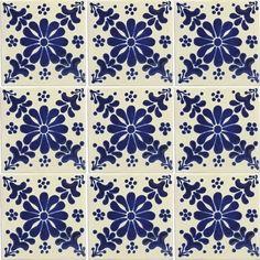 Mexican Tile - Graciela Mexican Tile Home Wallpaper, Fabric Wallpaper, Pattern Wallpaper, Spanish Revival, Spanish Colonial, Spanish Style, Art Nouveau Tiles, Ideias Diy, Mexican Designs