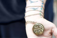 Find Your Wings and Fly ...Engraved Vintage Locket