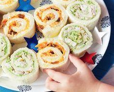Rollitos de Sandwich de zanahoria