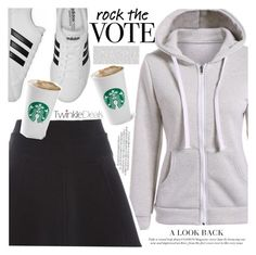 """""""Rock the vote"""" by vanjazivadinovic ❤ liked on Polyvore featuring adidas, polyvoreeditorial and twinkledeals"""
