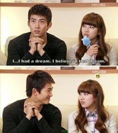 Haha, you think you're so funny Jin Kuk! #dreamhigh