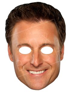 Chris Harrison Mask by TheBoxBash on Etsy - A perfect companion to our Bachelor Trivia, or any viewing party
