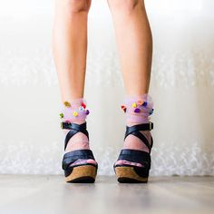 FAIRY Princess Tulle socks  Dusky pink Dress Up sheer socks