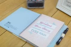 Had a #Smashbook as our guest book. #vintage #wedding