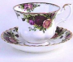 Tea Cup with Saucer. I have this one in my china cabinet. A gift from my sister.