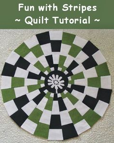 Learn to use striped fabric