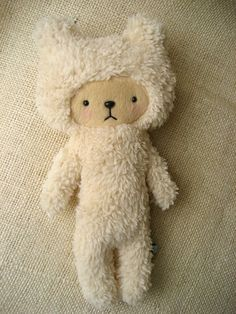 Sherpa Bear Plushie  by BijouKitty on Etsy. I hate stuffed toys and bears, but for some reason I like this.