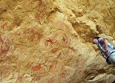 Das Ennedi Massiv, Expetionsteilnehmer und Prähistorische Felszeichnungen, Explore Chad Africa, Explore, Exploring