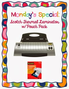 Day 3: Follower Appreciation Week; anyone want to win a laminator??  @Molly Hodson @Vanessa Denise @April Nicole
