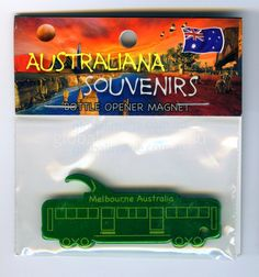 Melbourne Tram, Fridge-Magnet, Bottle-Opener   MATR-GREEN