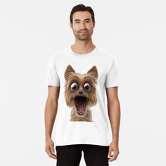 surprised dog face by Shark-Plaza | Redbubble Surprised Dog, Shark, Face, Dogs, Mens Tops, T Shirt, Women, Fashion, Supreme T Shirt