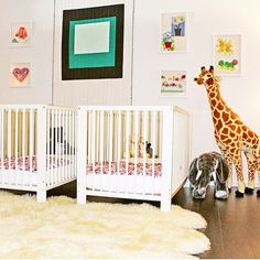 What a brilliant idea - @rachelzoe creates a nursery in her office for her female employees to enable them to work with their babies. So kind, smart, thoughtful and progressive #rachelzoe #babynursery