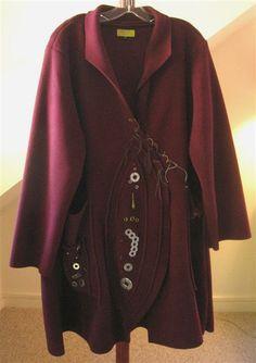 Giselle Shepatin Washers Coat in 200 Wt Bordeaux Fleece
