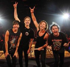 happy 4 years of 5sos! they've come a long way over these last 4 years and can i just say that i've never been prouder? they went from playing to 12 people to playing in front of thousands of fans. no matter how much hatred and criticism they get, they just continue on doing what they love and that's what i admire about them. i love you ashton, michael, calum, and luke! you've become more than my idols, you've become one of my best friends. here's to more years of 5sos!