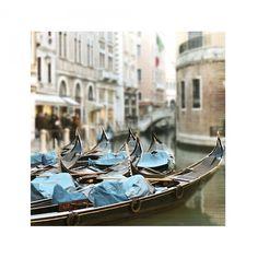 In Venice Fine Art Travel Photograph -Italy Gondola Boat Blue Sepia ...