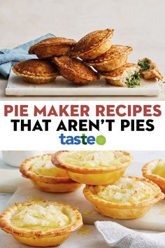 Mini Pie Recipes, Tart Recipes, Appetizer Recipes, Dessert Recipes, Cooking Recipes, Desserts, Breville Pie Maker, Savoury Baking, Savoury Pies