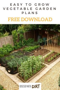 Free Vegetable Garden Layout, Plans and Planting Guides
