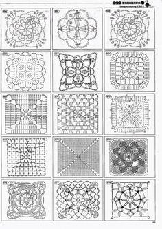 Transcendent Crochet a Solid Granny Square Ideas. Inconceivable Crochet a Solid Granny Square Ideas. Point Granny Au Crochet, Grannies Crochet, Granny Square Crochet Pattern, Crochet Diagram, Crochet Chart, Crochet Squares, Granny Squares, Filet Crochet, Thread Crochet