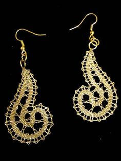 Lace earrings, bobbin lace earrings, lace jewelry, handmade jewelry, handmade earrings, handmade lace, bobbin lace jewelry, elegant jewelry