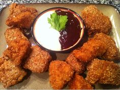 Almond-Parmesan Crusted Chicken Nuggets