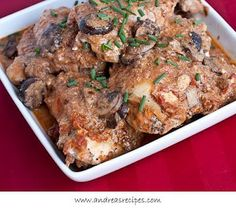 Slow cooker paprika chicken, from Andrea Meyers via Slow Cooker from Scratch.