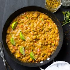 This Creamy Vegan Coconut Chickpea Curry is the best curry I've ever had! One Pot and incredibly flavorful!