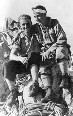 German climbers of Eiger North Face: Toni Kurz and Andi Hinterstoisser, 1936
