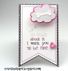 i love 2 cut paper: Action Wobble Valentine Card with cuttable svg file.