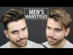 2 Quick and Easy Hairstyles for Men Easy Mens Hairstyles, Quiff Hairstyles, Easy Summer Hairstyles, Heatless Hairstyles, Easy Hairstyles For School, No Heat Hairstyles, Haircuts For Curly Hair, Haircuts For Men, Men's Hairstyle