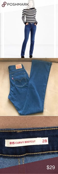 "NWOT Levi's 815 Curvy Bootcut Jeans Perfect condition!  Inseam is 33""; Rise is 8.5"". Levi's Jeans Boot Cut"