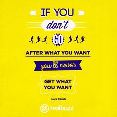 If you have a goal you want to achieve, you have to be prepared to work for it.