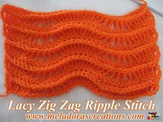Lacy Zig Zag Ripple Stitch Finished 2 WM 600