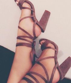 strappy hees.                                                                                                                                                                                 More