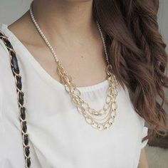 Layered Faux-Pearl Necklace from #YesStyle <3 CYNTHIA YesStyle.co.uk