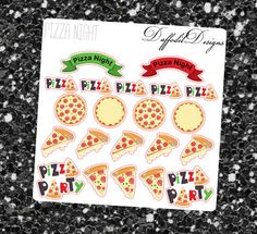 21 fun pizza stickers! Matte PAYMENT - Major credit cards & PayPal are accepted. - Sticker orders are started once payment is received. SHIPPING - Ship only to PayPal addresses. If not using PayPal, please check address carefully. Im not responsible for buyer mistakes in address